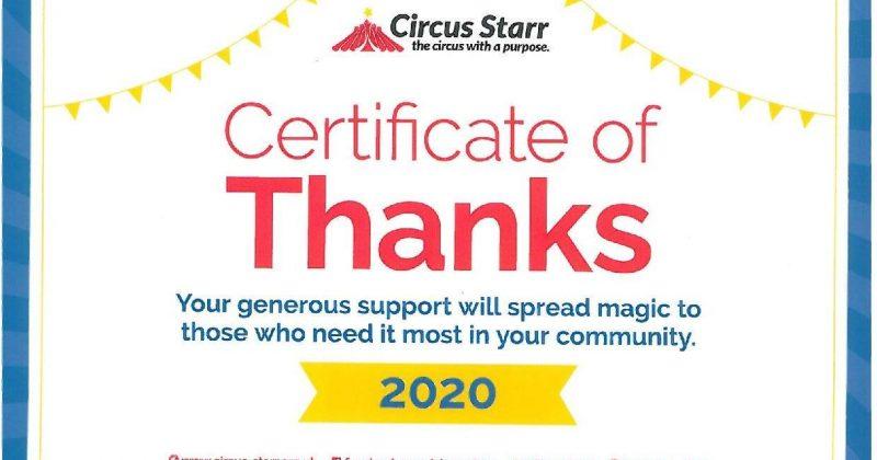 Proud sponsors of Circus Starr